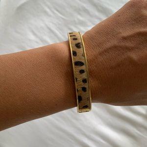 JCrew Calf Hair Leopard Bracelet